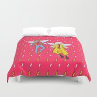marty mcfly Duvet Covers featuring Doc and Marty McFly Go Back to The Future by ladykerry
