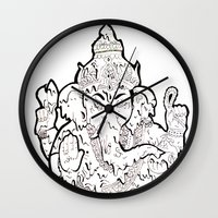 ganesha Wall Clocks featuring Ganesha by Sofia Bernikova