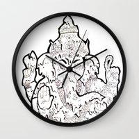 ganesha Wall Clocks featuring Ganesha by Sofia Bernikova