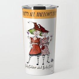 Lady Cadaver and Lady Cackle Travel Mug