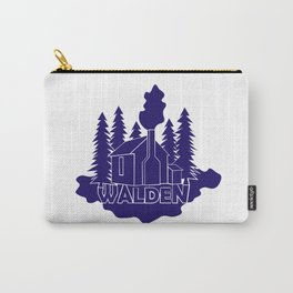Walden - Henry David Thoreau (Blue version) Carry-All Pouch