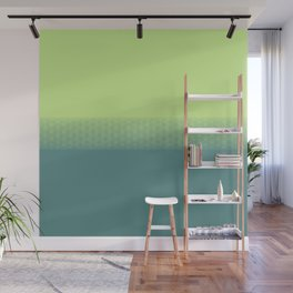 Lime green to dark green gradient boundary spectrum Wall Mural
