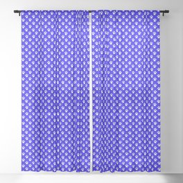 Tiny Paw Prints Pattern - Bright Blue & White Sheer Curtain