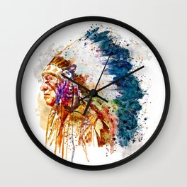 Native American Chief Wall Clock