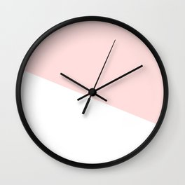 Urban Geometry Perfect Pink + White Wall Clock