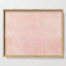 pink blush color trend plain texture Serving Tray