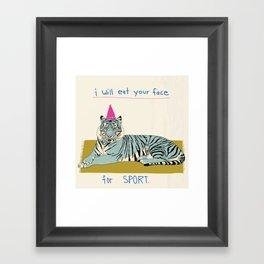 Nice Tiger Framed Art Print