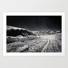 B&W Snow Background Art Print