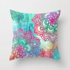 Round & Round the Rainbow Throw Pillow