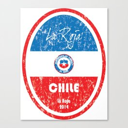 World Cup Football - Chile (Distressed) Canvas Print