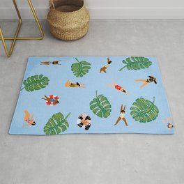 Floating in the sea Rug