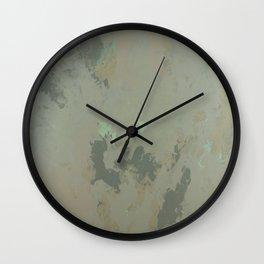 Golden Sea Foam Wall Clock