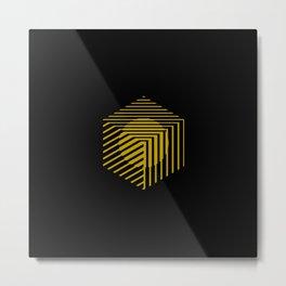 Cube Metal Print