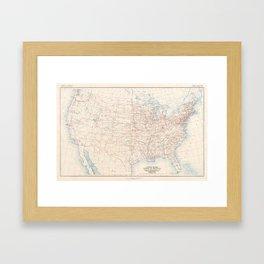 1926 U.S. Highway System Map Framed Art Print