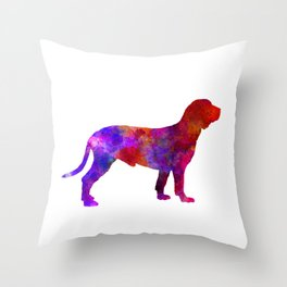 Spanish Hound in watercolor Throw Pillow
