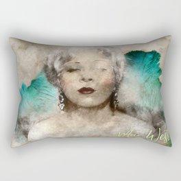 Mae West portrait Rectangular Pillow