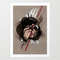 helen green Art Prints featuring HELEN by CABINET