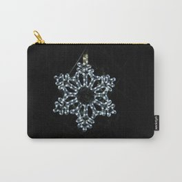 Christmas Snowflake in Ice Blue Carry-All Pouch
