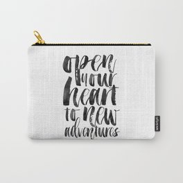 PRINTABLE Art,Adventure Awaits,Adventure Time,Nursery Decor,Quote Prints,Typography Print Carry-All Pouch