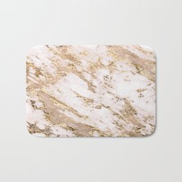 Golden smudge - blush marble Bath Mat