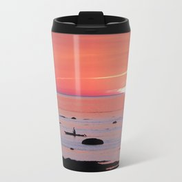 Kayaker and Bird at Last Light Travel Mug