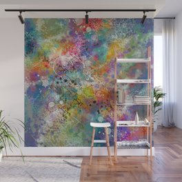 PAINT STAINED ABSTRACT Wall Mural