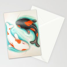 Coy Fish (Yin & Yang) Stationery Cards