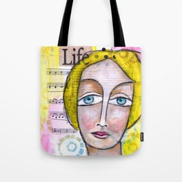 Life with Yellow Hair Tote Bag