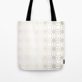 Simply Vintage Link in White Gold Sands on White Tote Bag