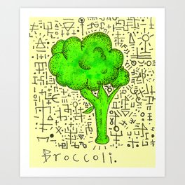 Broccoli. Art Print