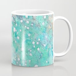 Blue Green Dreamy Marble, Minimal Abstract Pastel Graphic Design Eclectic Bohemian Painting Texture Coffee Mug