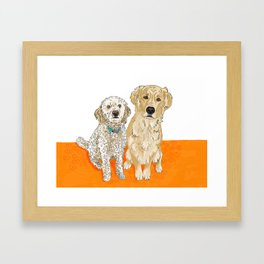 Two Buddies Framed Art Print