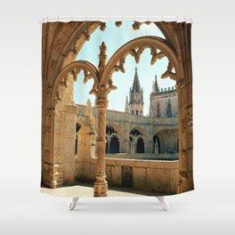 MOSTEIRO DOS JERONIMOS, Lisbon - Portugal.  Analog 6x6 Kodak Ektar 100 (RR158) Shower Curtain