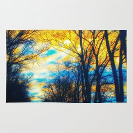 Yellow and Blue Forest Rug
