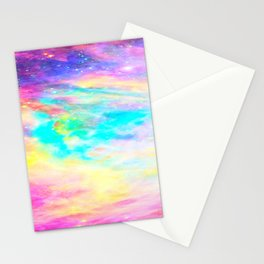 Abstract Galaxy : Bright & Colorful Stationery Cards