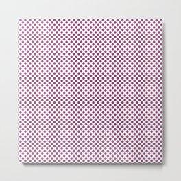 Sugar Plum Polka Dots Metal Print