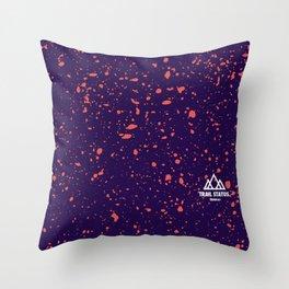 Trail Status / Purple Throw Pillow
