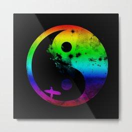 surfin v2 rainbow version Metal Print
