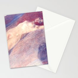 "Gustav Klimt ""Bewegtes Wasser (Moving Water)"" Stationery Cards"