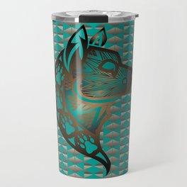 The Wolf (Aqua) Travel Mug