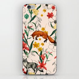 Floral Fox iPhone Skin
