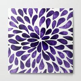 Petal Burst Ultra Violet Metal Print