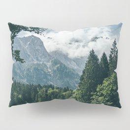 Zugspitze Mountain In Summer Clouds Pillow Sham