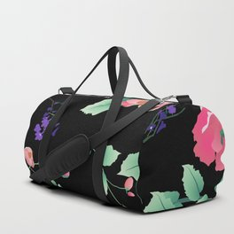 Roses and Violets Pattern Style Duffle Bag
