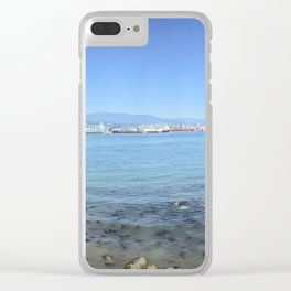 Stanley park walk way, vancouver british columbia, Panorama Clear iPhone Case