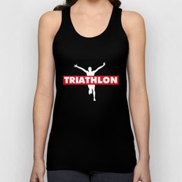 Triathlon - swimming, bike, running Unisex Tank Top