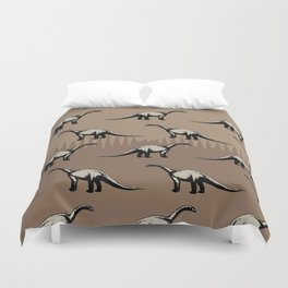 ChocoPaleo: Brontosaurus Duvet Cover