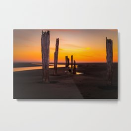 Pacific Beach Sunset Metal Print