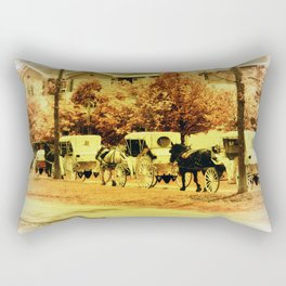 Carriage Ride Rectangular Pillow