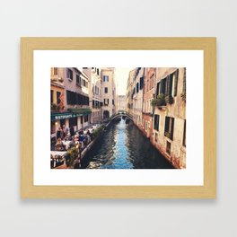 Just a canal Framed Art Print